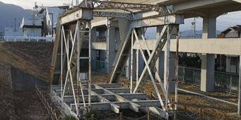 旧牧田川橋梁の一部