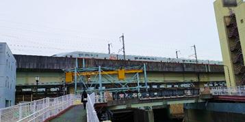 飛鳥山石神井川トンネル出口下流の場所